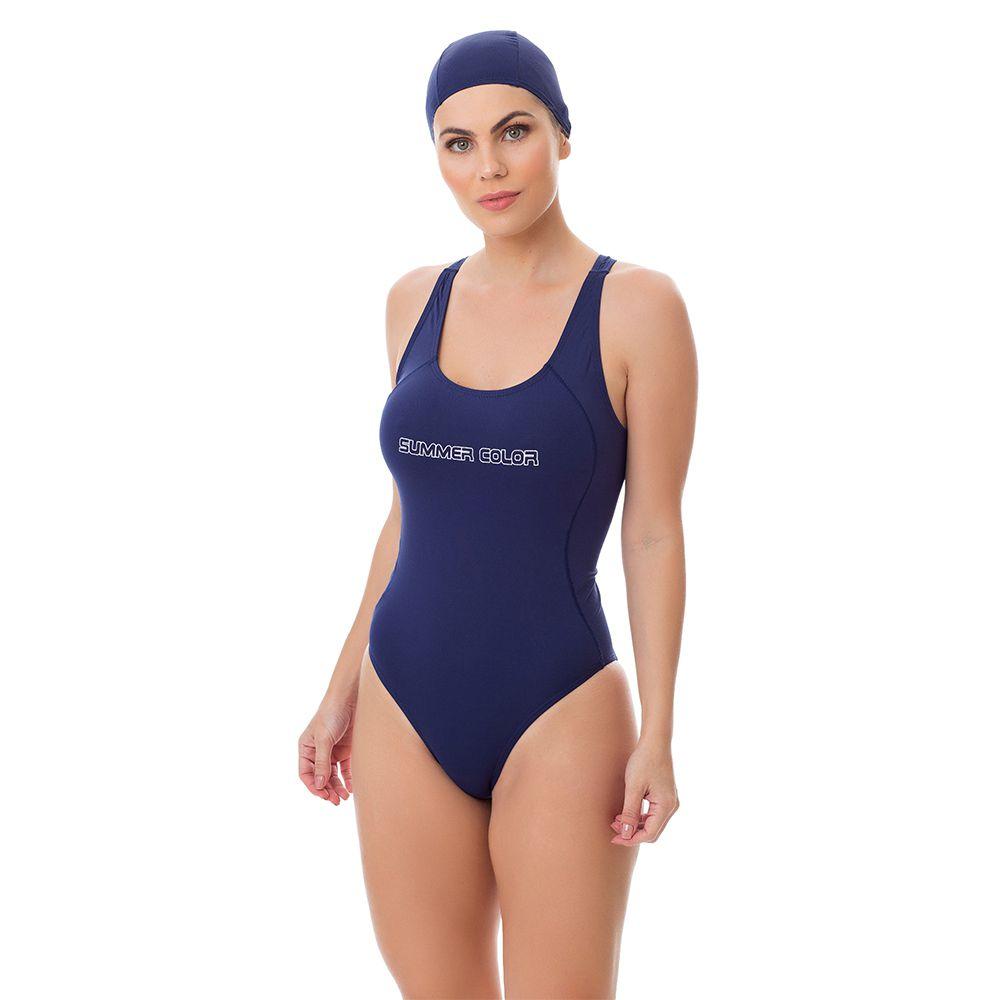 Maiô para natação com touca e silk Costas Nadador