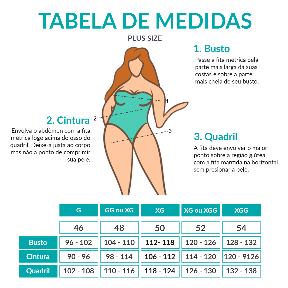 Maiô plus size Estampado Azul Costas Decotada