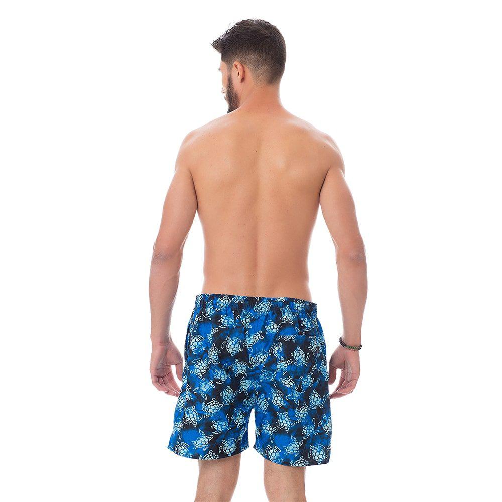 Short de praia Masculino Estampado Tartarugas