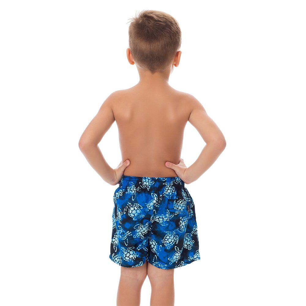 Short Infantil Masculino Estampado Tartaruga