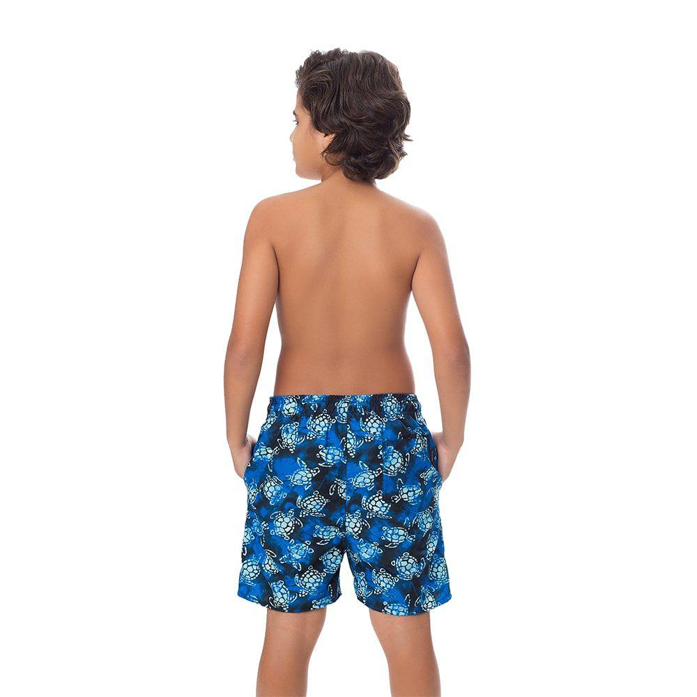 Short Juvenil Masculino Estampado Folhagem