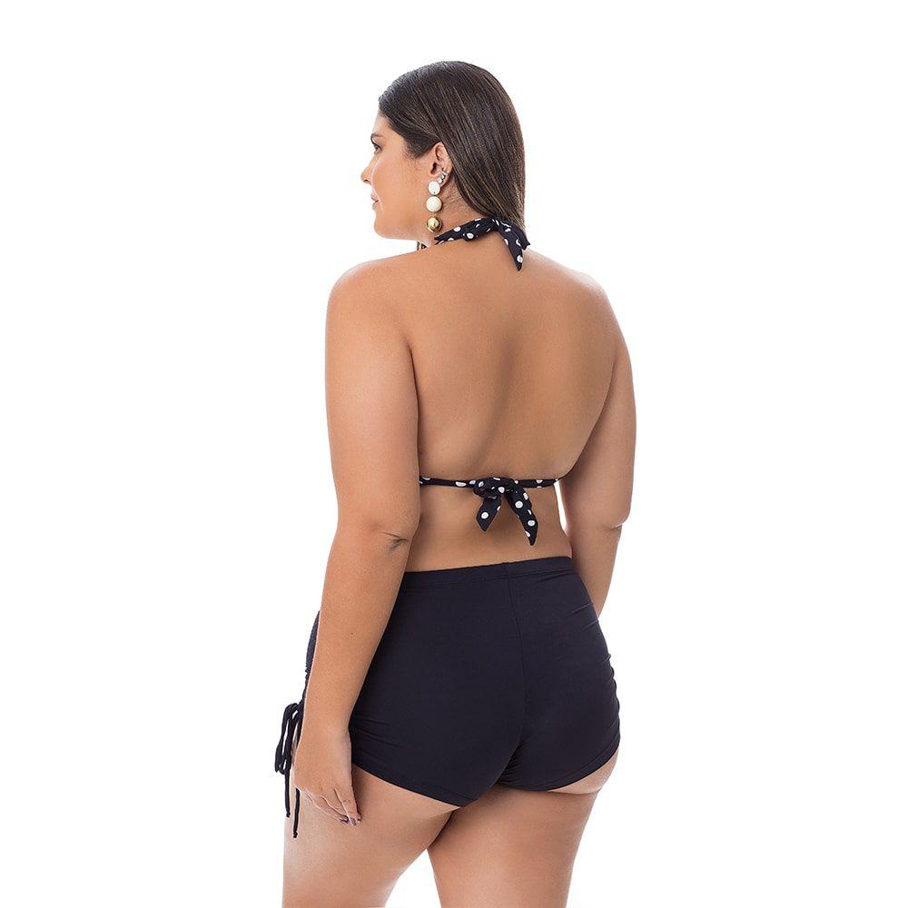 Short Plus Size com Amarração e Franzido na Lateral