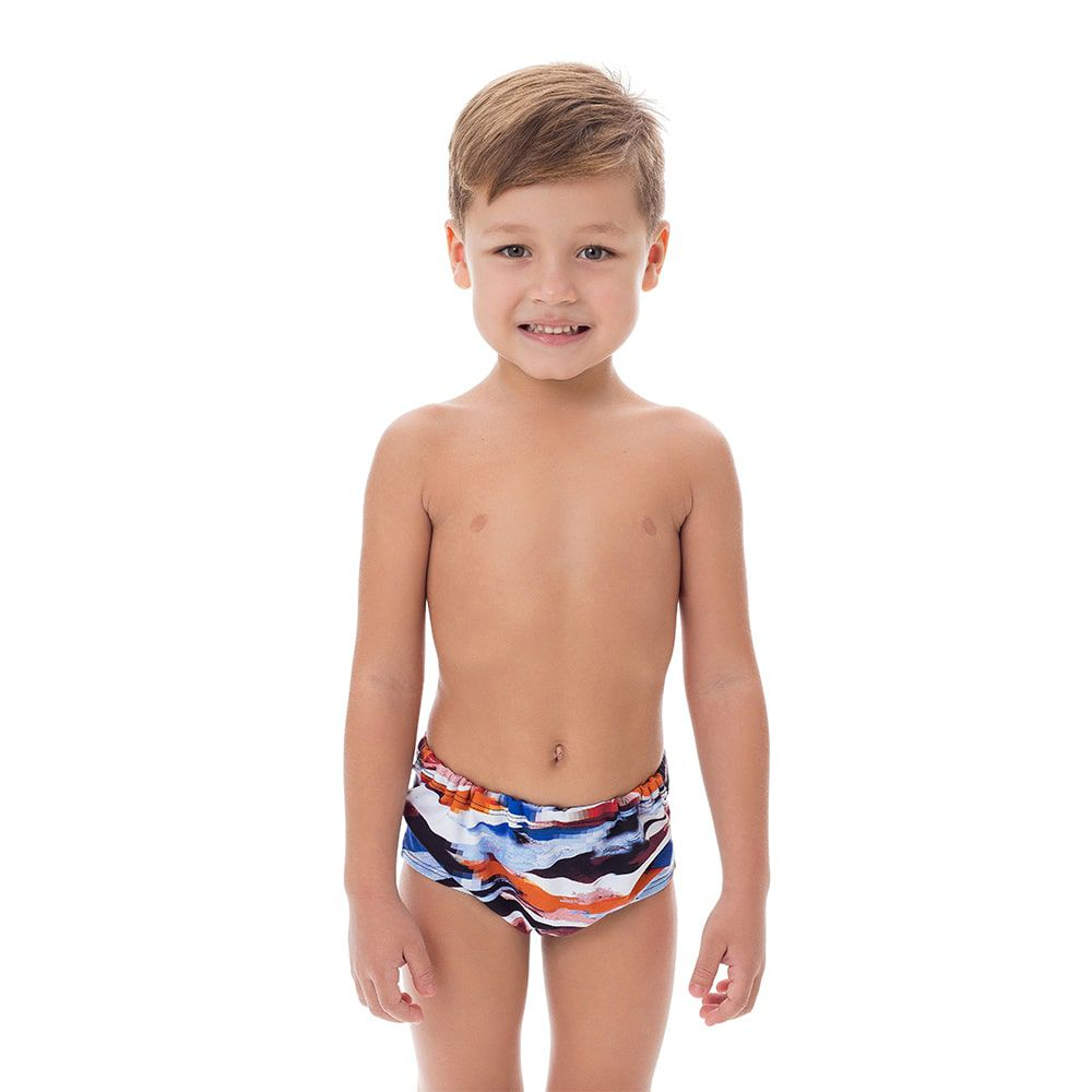 Sunga Boxer Infantil Estampada Colorida