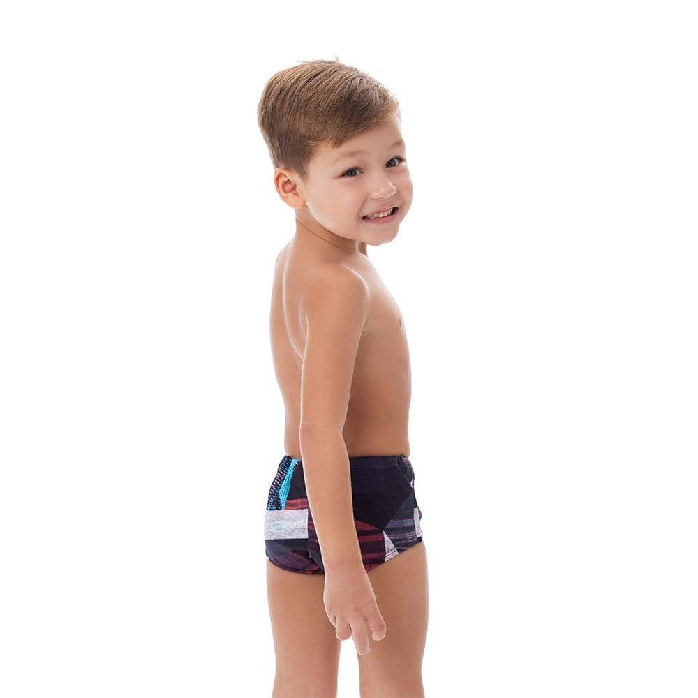 Sunga Boxer Infantil Estampada Escura