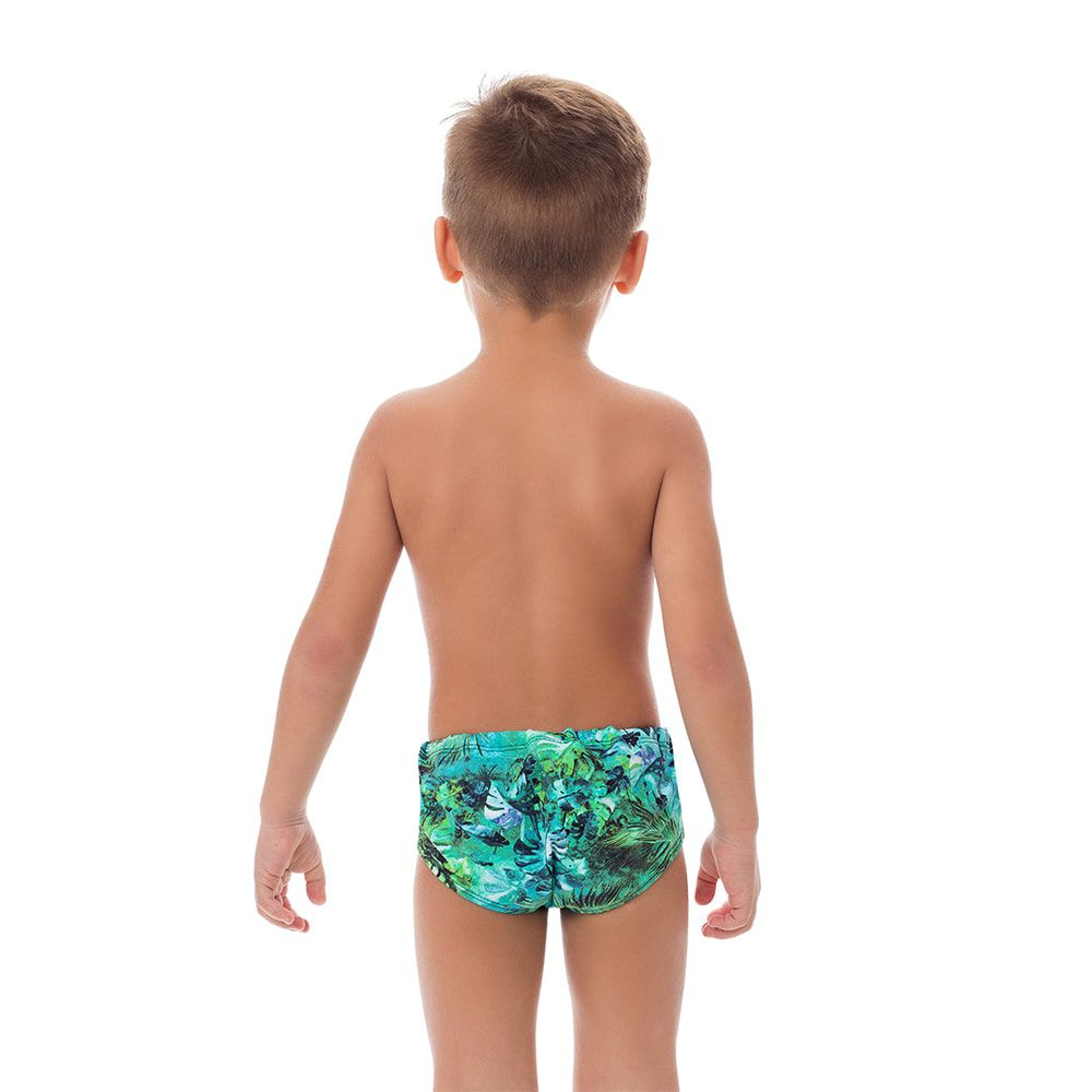 Sunga Boxer Infantil Estampada Verde