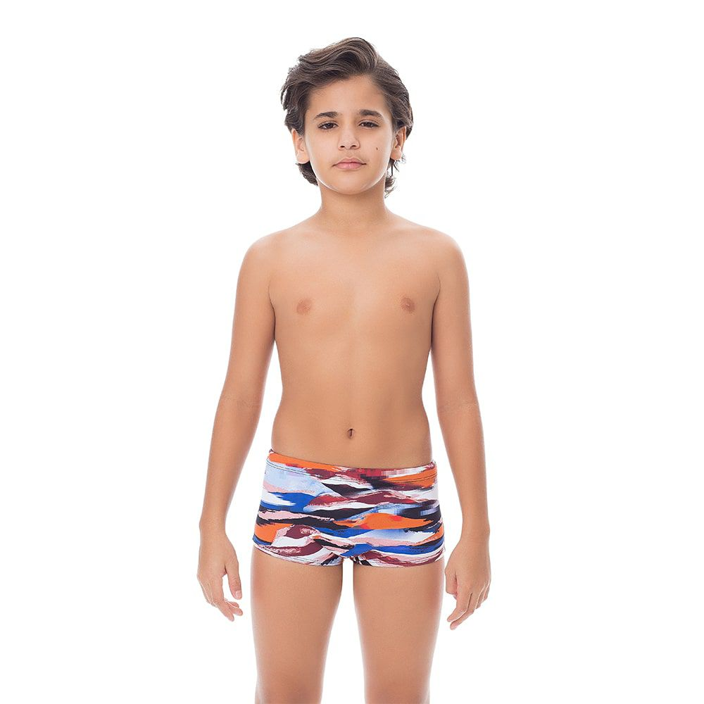 Sunga Boxer Juvenil Estampada Colorida