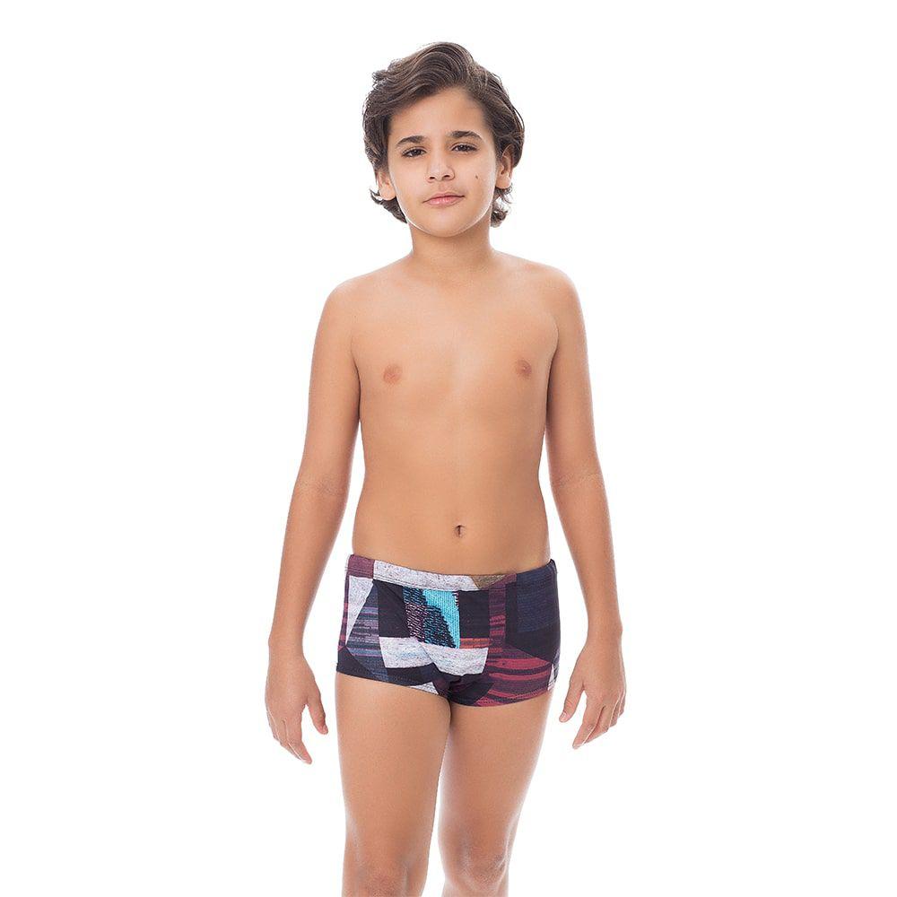 Sunga Boxer Juvenil Estampada Figuras Geométricas