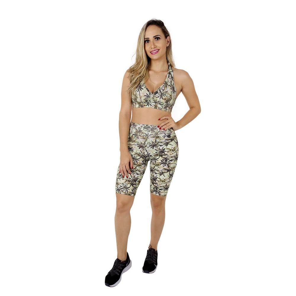 Top Fitness de Academia Feminino Estampado Palmeiras Nadador