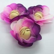 Forminhas para Doces - Pink Vinho com Rosa - F14 Tafetá - 25 un