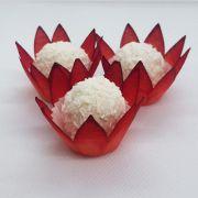 Forminhas para Doces - Vermelho - F120 Viscose - 50 un