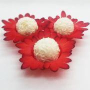 Forminhas para Doces - Vermelho - F122 Viscose - 50 un