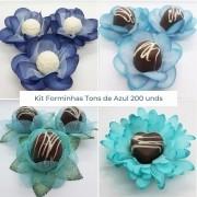 Kit Forminhas Tons de Azul - 200 un