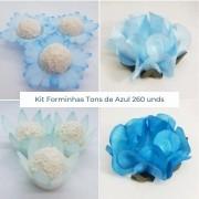Kit Forminhas Tons de Azul - 260 un