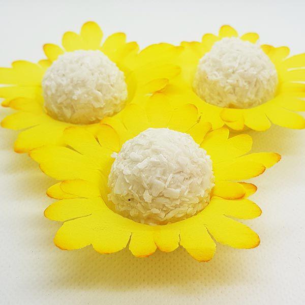 Forminhas para Doces - Amarelo Mostarda - F122 Viscose - 50 un