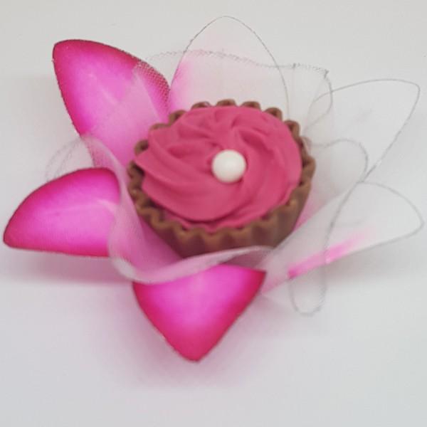 Forminhas para Doces - Pink com Rosa - F6 Tafetá - 25 un