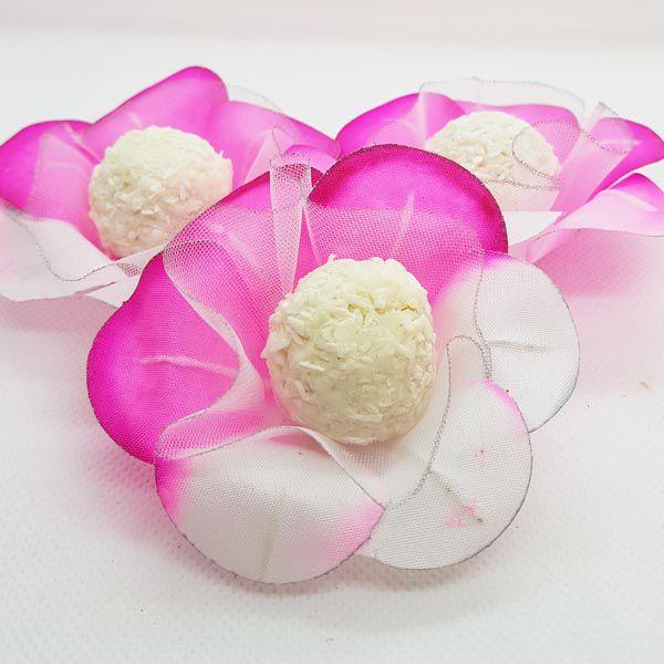 Forminhas para Doces - Pink com Rosa - F7 Tafetá - 25 un