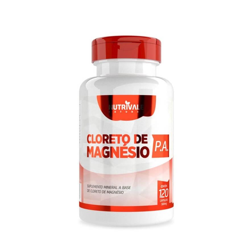 Cloreto de Magnésio PA 120 Cápsulas - Nutrivale