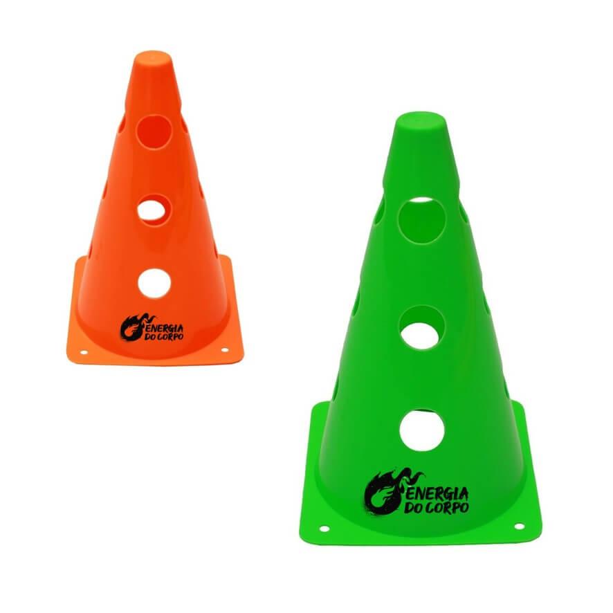 Cone para Treinamento Vazado 24 cm Energia do Corpo
