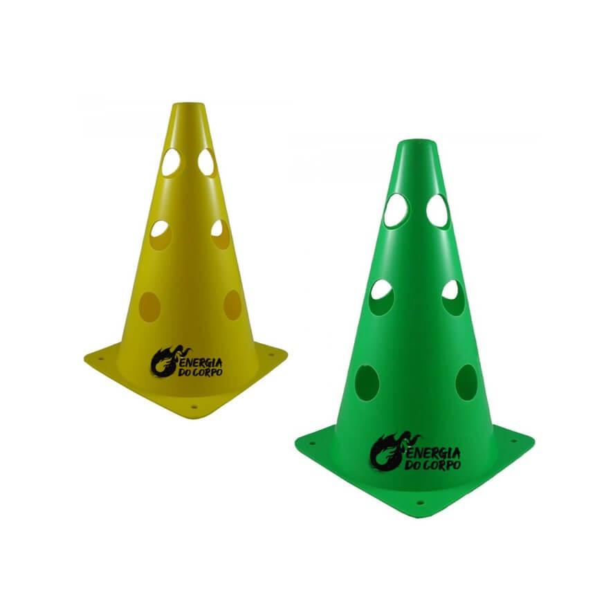 Cone para Treinamento Vazado 50 cm Energia do Corpo