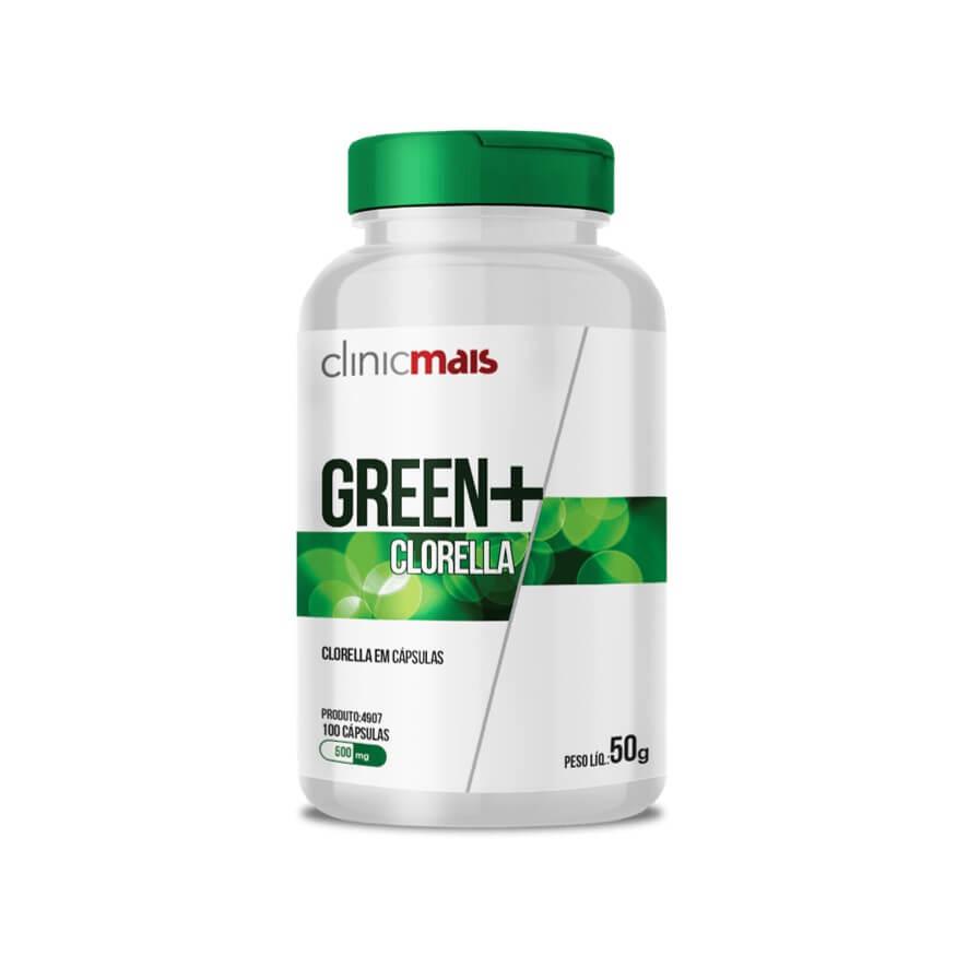 Green+ Clorella 100 Cápsulas - Clinic Mais