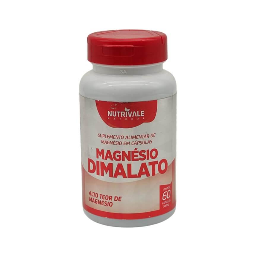 Magnésio Dimalato 60 Cápsulas - Nutrivale
