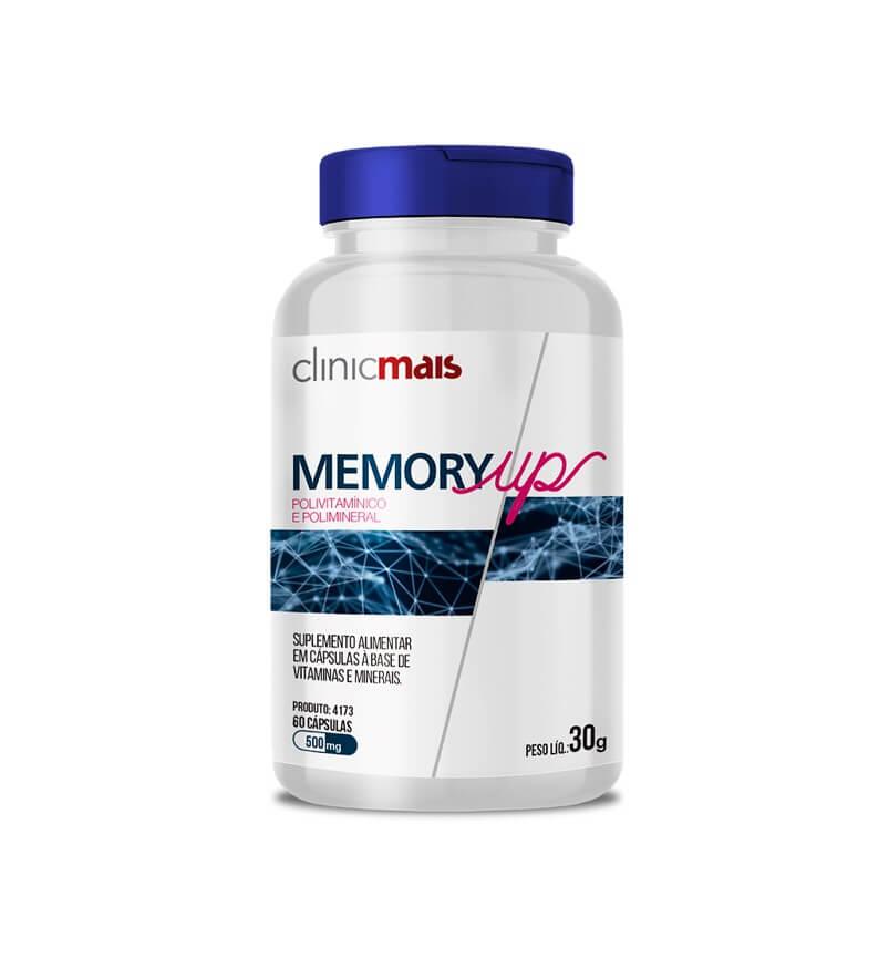 Memory Up Vitamínico Mineral 60 Cápsulas - Clinic Mais