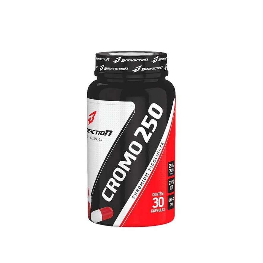 Picolinato de Cromo 30 Cápsulas - BodyAction