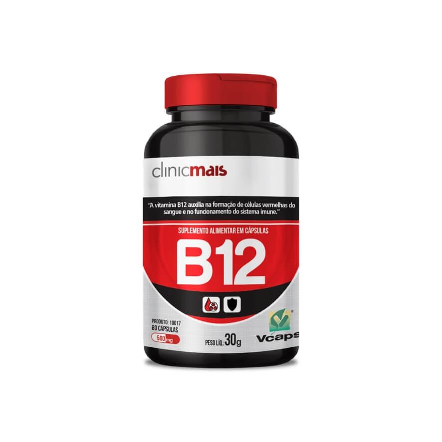 Vitamina B12 30 Cápsulas - Clinic Mais
