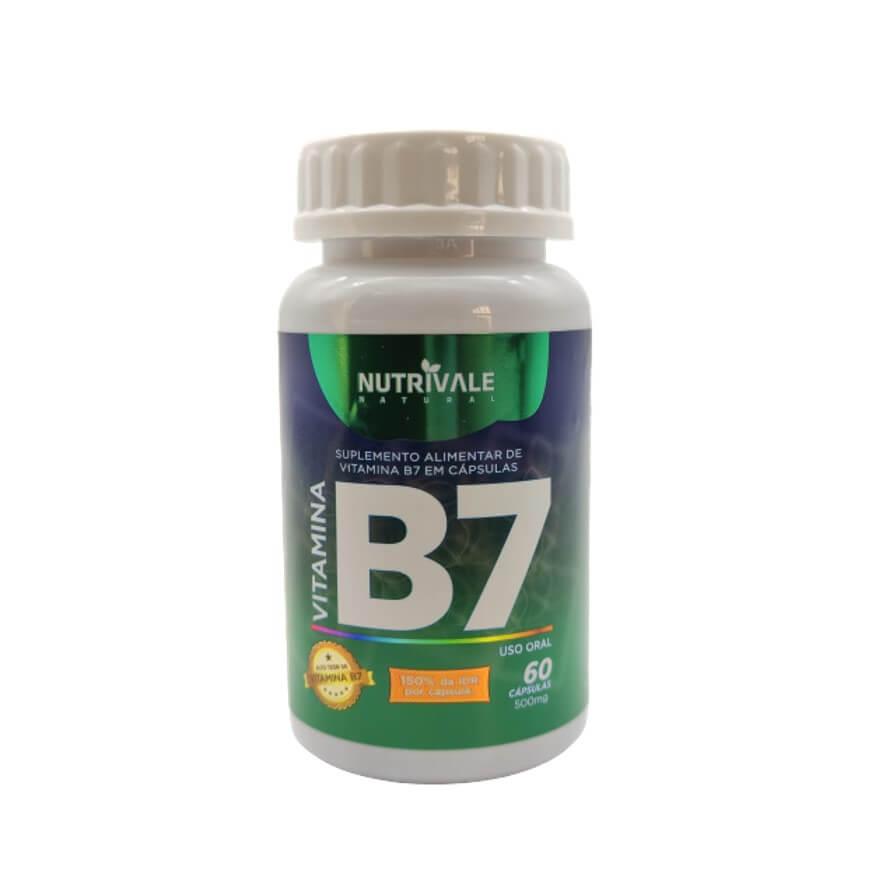 Vitamina B7 Biotina 60 Cápsulas - Nutrivale