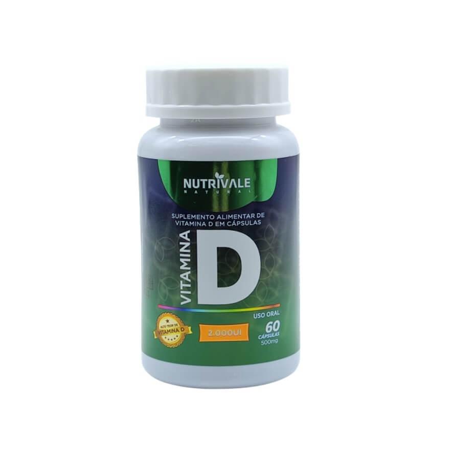 Vitamina D 2000 UI 60 Cápsulas - Nutrivale