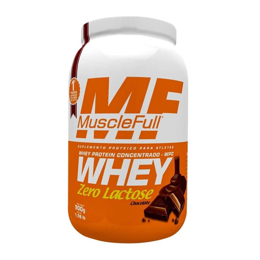 Whey Concentrado Zero Lactose 900g - MuscleFull