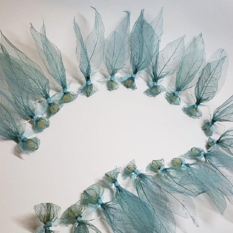 Fio água-viva de bilreiro azul