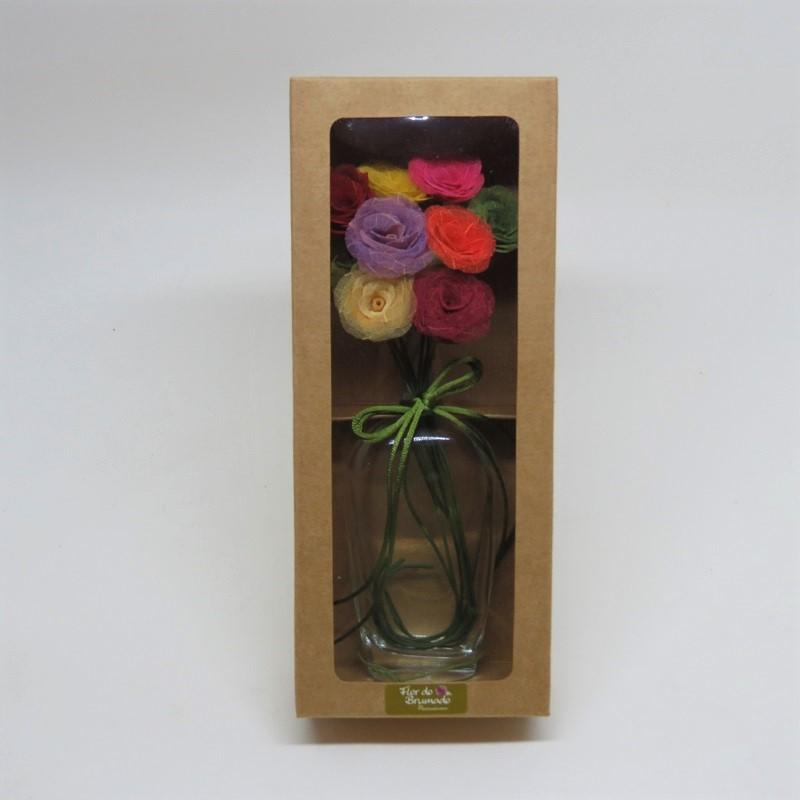 Micro rosas multicoloridas