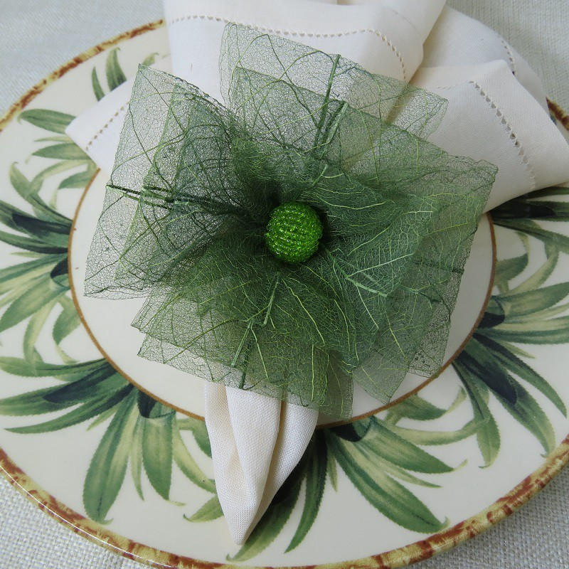 Porta-guardanapo flor de laço