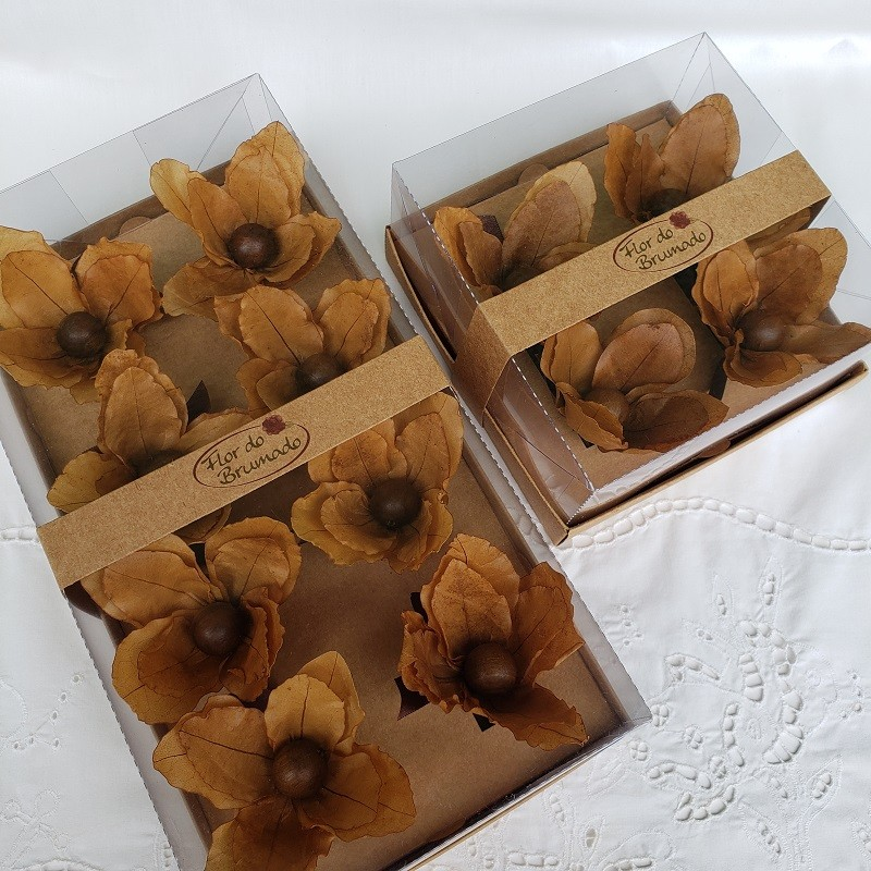 Porta-guardanapo flor de macadâmia