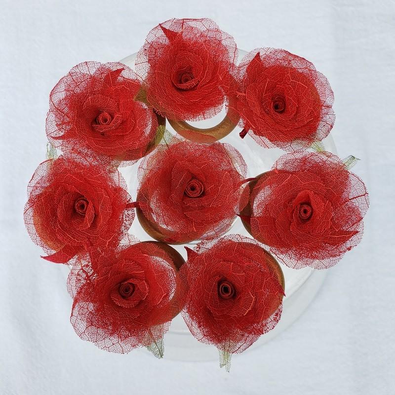 Porta-guardanapo mini rosa de figueira