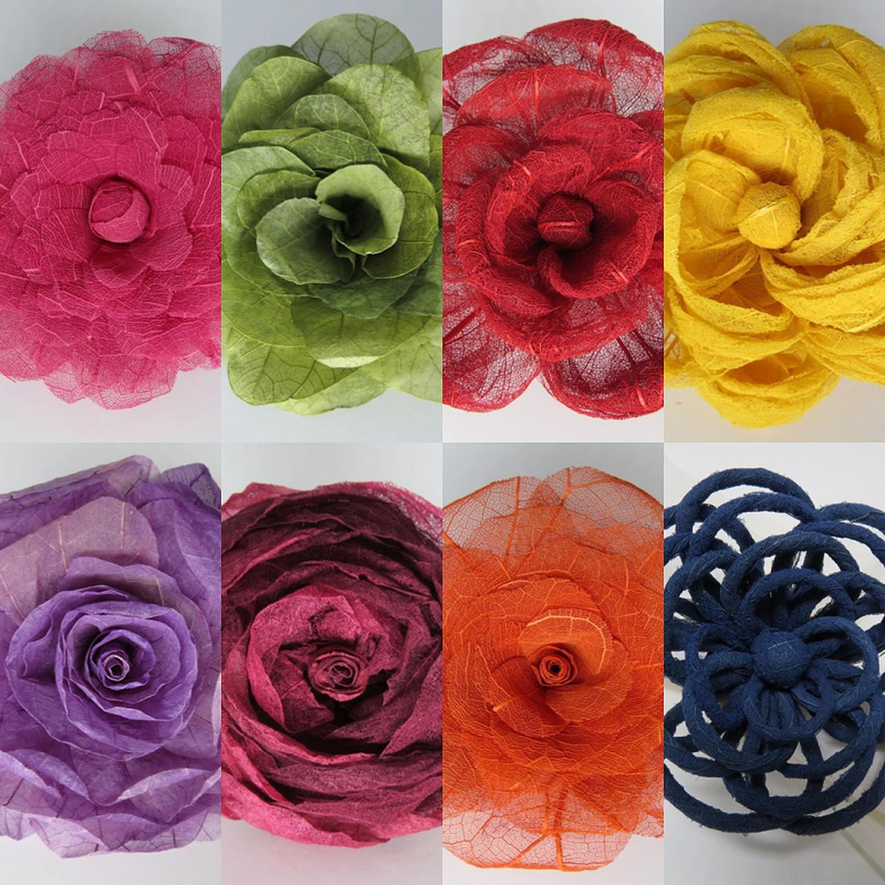 Porta-guardanapo multifloral multicolorido