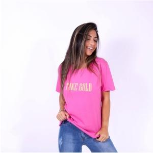 Blusa T-shirt Rosa Vintage Style