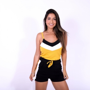 Conjunto Feminino Short Blusa Analu