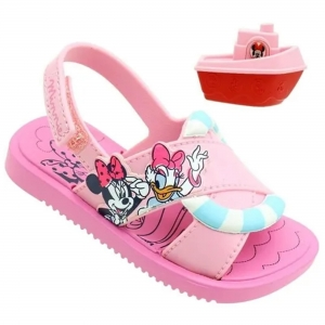 Sandália Disney Shower Meninas Grendene Kids Rosa