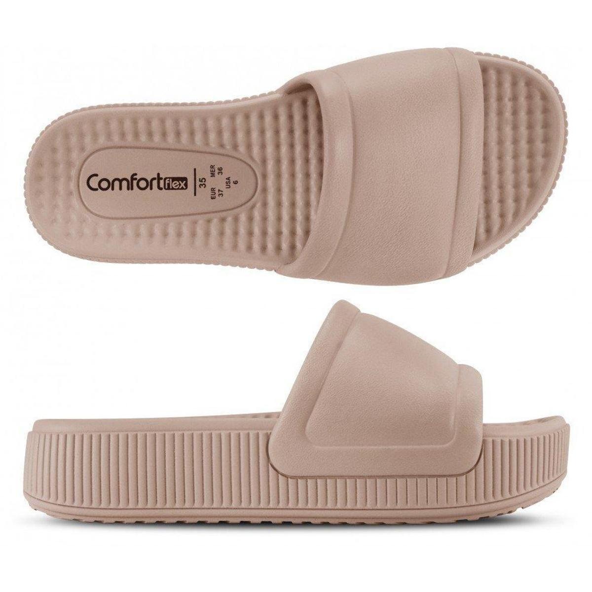 Chinelo Feminino Comfortflex Comfortflow Slide