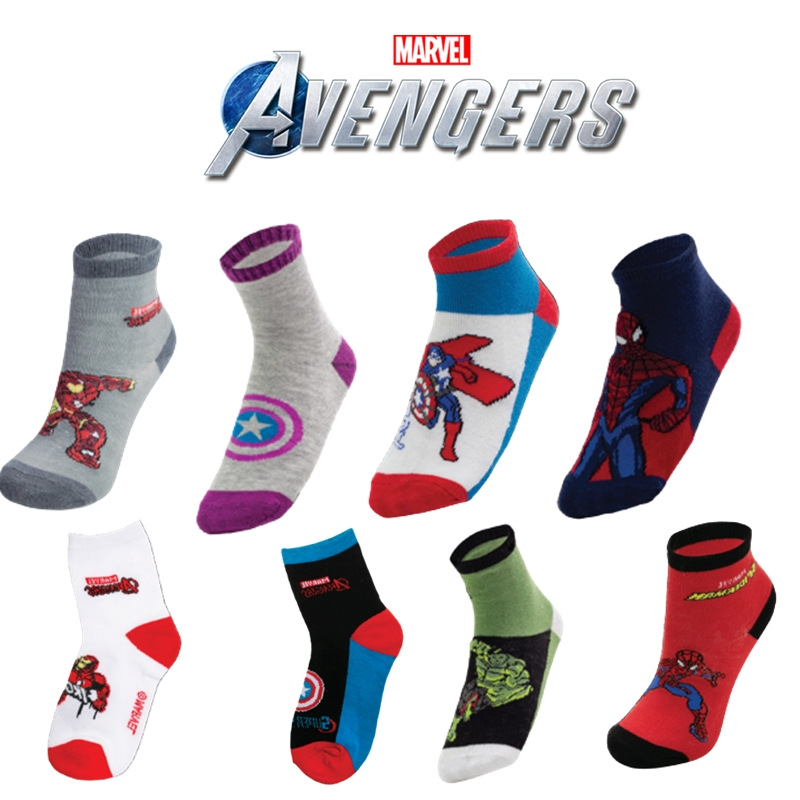 Kit Meias Personagens Marvel 12 Pares