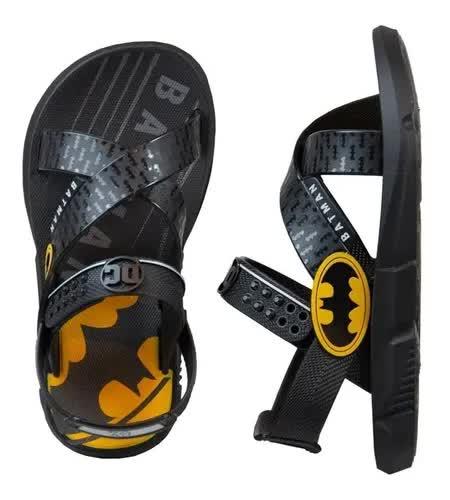 Sandália infantil Batman Batmovel Grendene