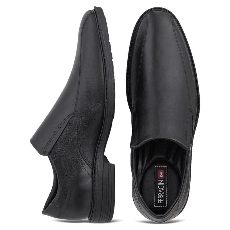 Sapato ferracini  Casual Masculino Couro Tóquio