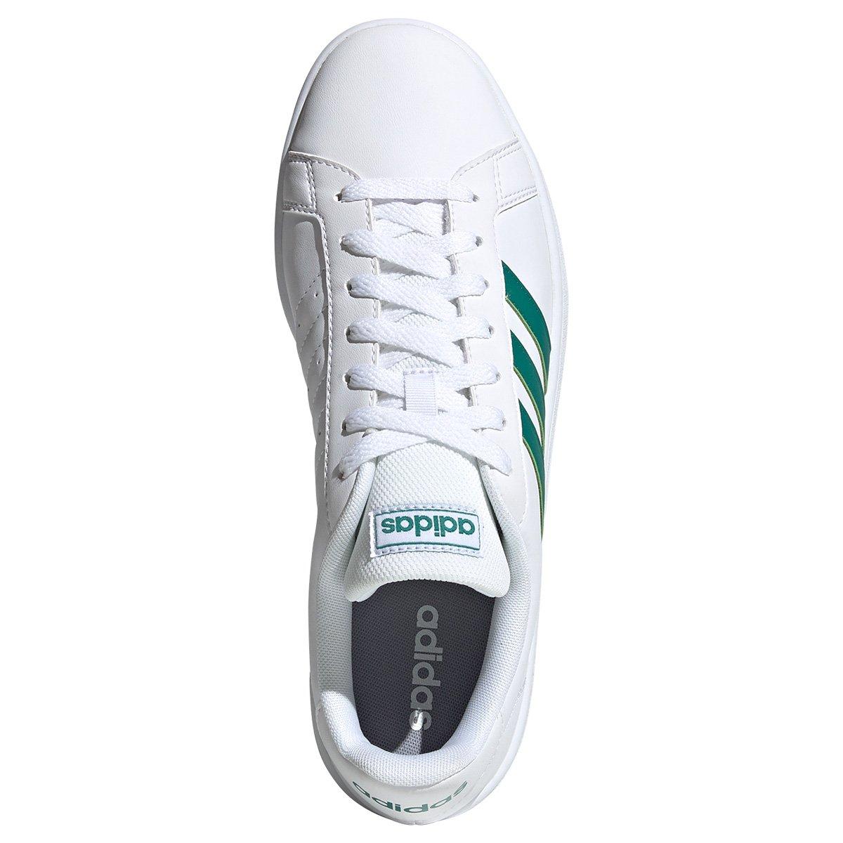 Tênis Adidas Branco Grand Court Base Masculino
