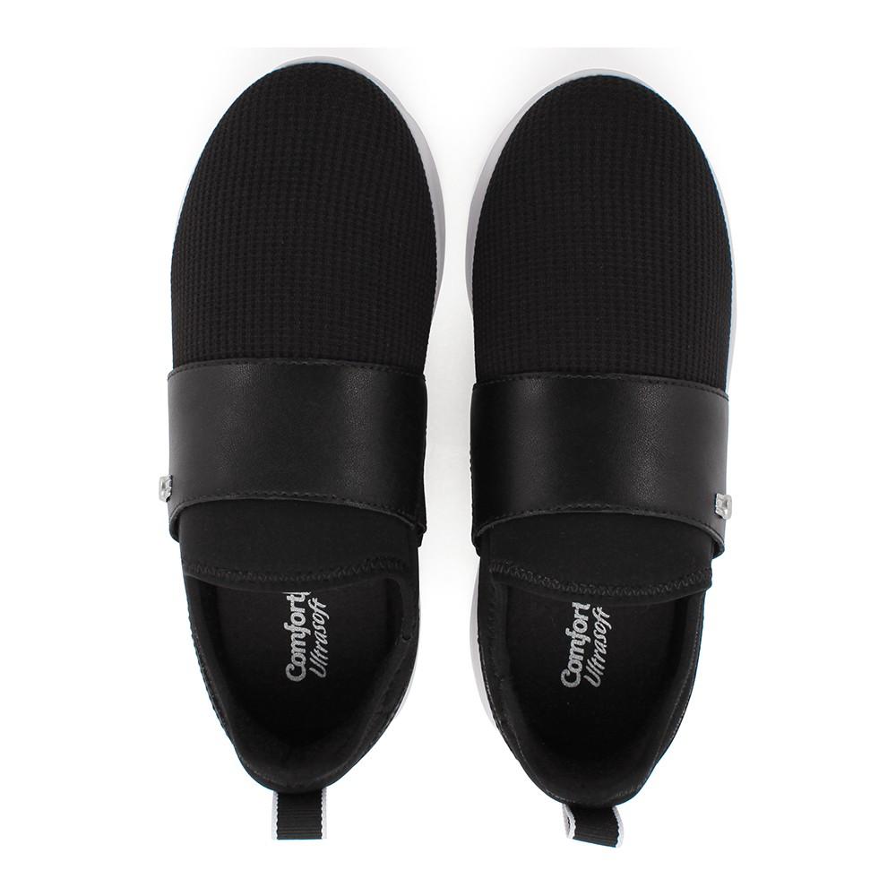 Tênis Feminino Comfortflex Preto Calce Fácil