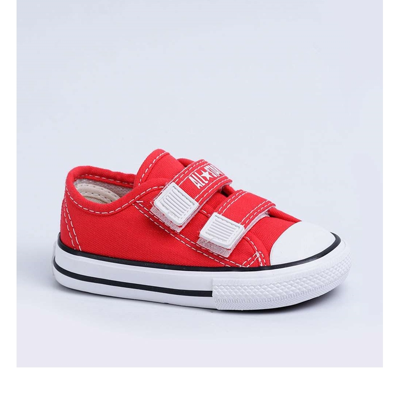 Tênis Infantil Converse All Star  vermelho Velcro