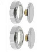 2un. Plug De Latão C/ Canopla Cromada Rosca 1/2'' - Blukit
