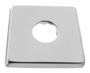 Canopla Quadrada Aço Inox 6 X 6 Cm - Blukit