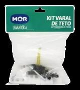 Corda Varal De Teto + Peças Compl 2 Cordas 6,5m Cada Nylon